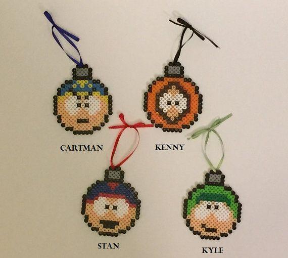 South Park Perler Bead ampoule / ornements par ThePixelizedPrincess