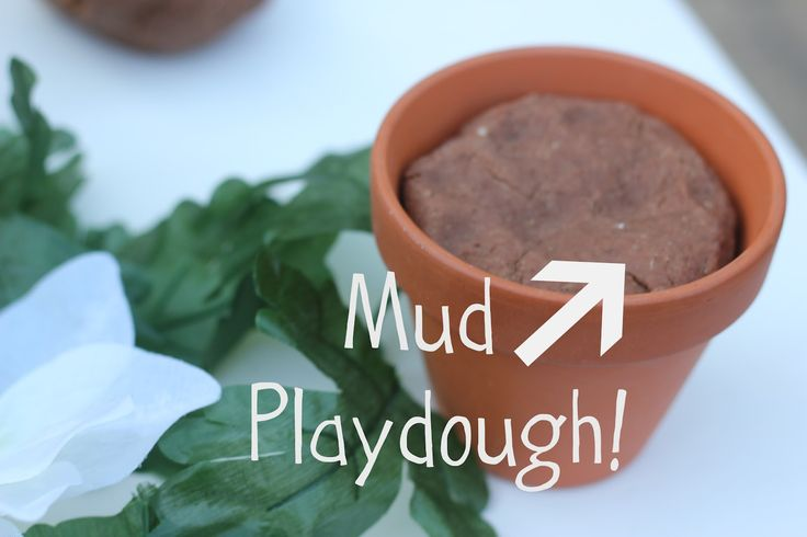Mud Play dough garden play ideas                                                                                                                                                      More
