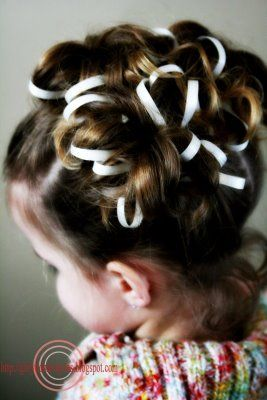 Easy Easter updo using ribbon #hairstyle #girlydos