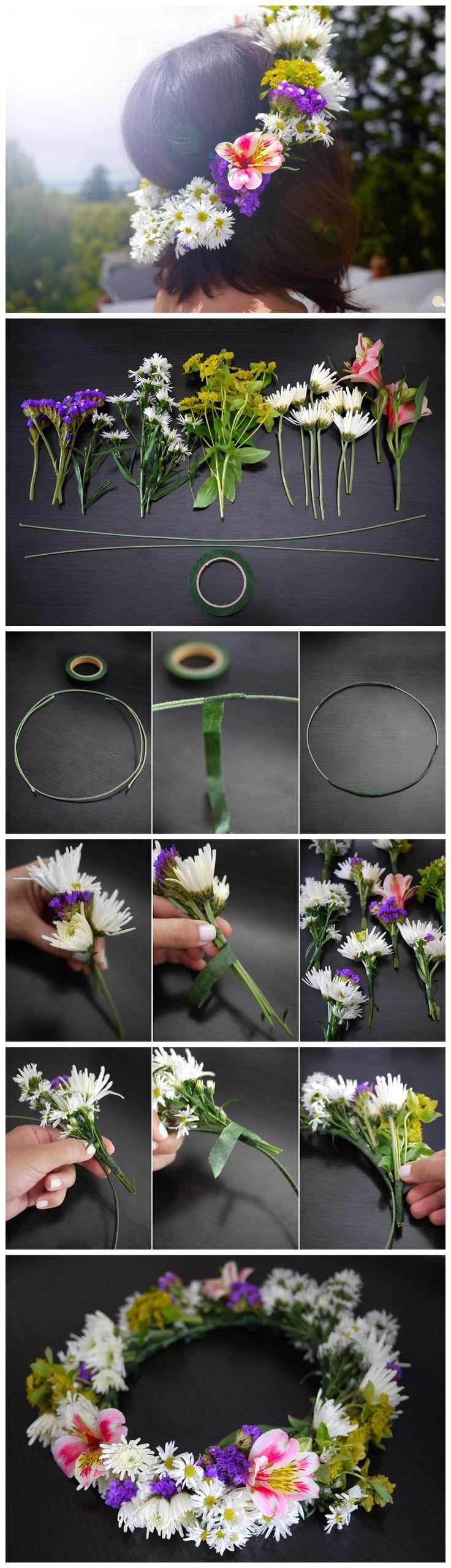 DIY   Couronne de fleur