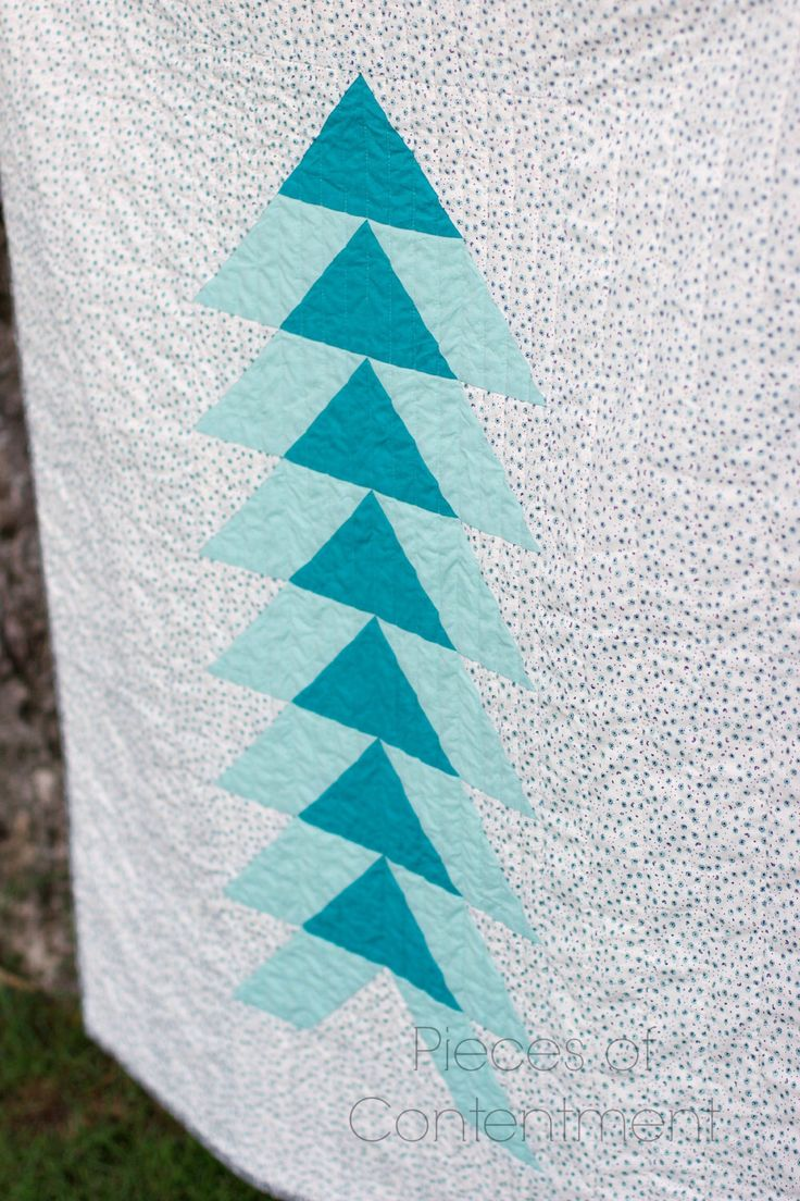 Organic Cotton Quilt, Lap quilt, Cloud 9 Fabrics, Flying Geese variation, gender neutral quilt, baby quilt, turquoise by PiecesofContentment on Etsy https://www.etsy.com/listing/218244996/organic-cotton-quilt-lap-quilt-cloud-9