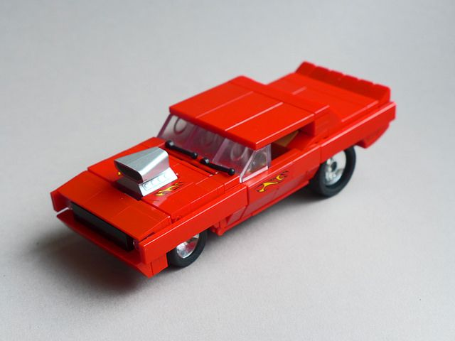 Cuda Dragster is a slick LEGO car