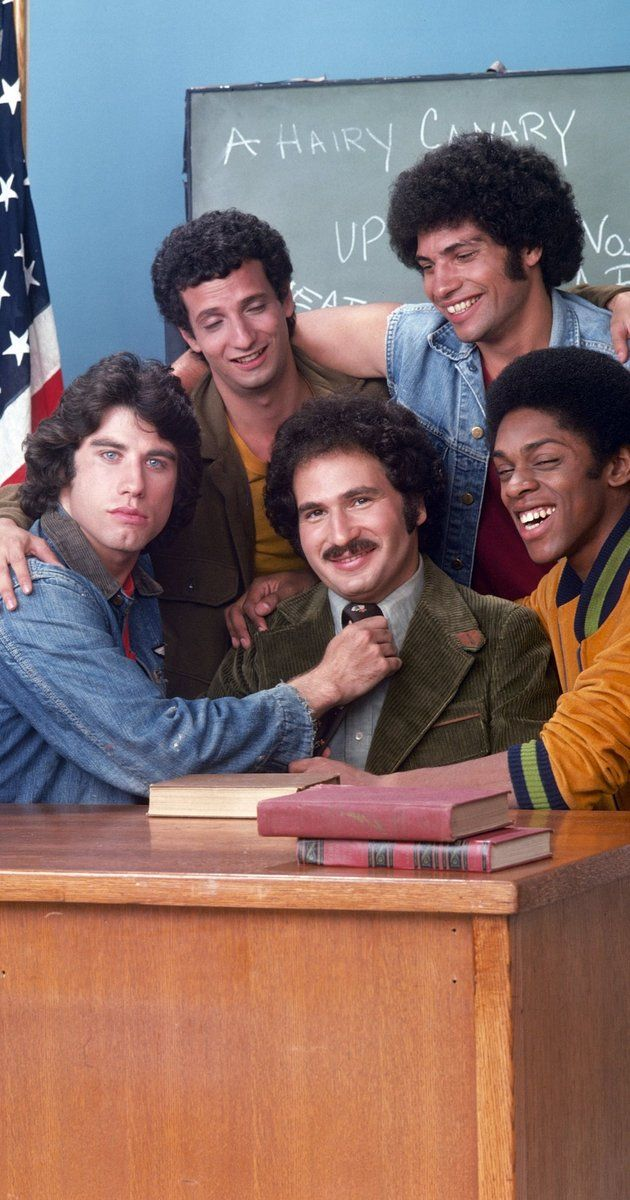 Created by Gabe Kaplan, Alan Sacks, Peter Meyerson.  With Gabe Kaplan, Ron Palillo, John Travolta, Robert Hegyes. A compassionate teacher returns to his inner city high school of his youth to teach a new generation of trouble making kids.