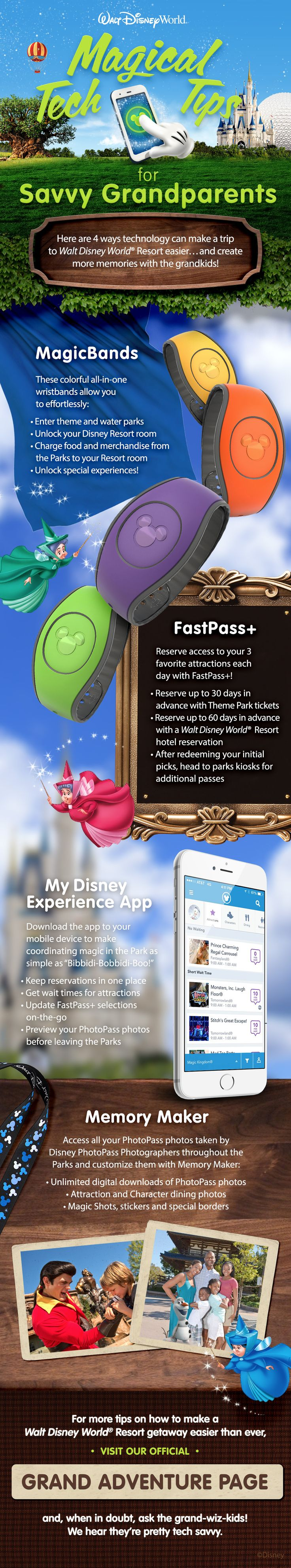 Here are 4 ways technology can make a trip to Walt Disney World Resort easier...and create more memories with the grandkids!