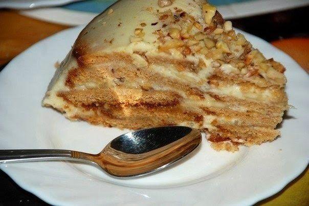 Простой и вкусный холодный пряниковый торт