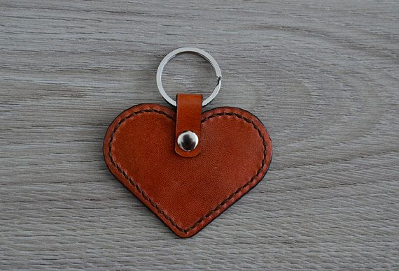 Hey, I found this really awesome Etsy listing at https://www.etsy.com/listing/231826105/leather-heart-keychain-brown-and-black