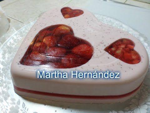 Gelatina Encapsulada Gourmet Corazones - YouTube