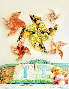 I love the pinwheels.  I want them in my dining room.