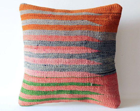 Throw Pillows Homesense : Organic Shine Society Modern Bohemian Throw Pillow. Handwoven Striped Vintage Tribal Turkish ...