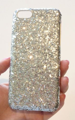 Silver Bling Diamond Sequin Phone Case Cover For Apple iPhone 5C 5 c +Film