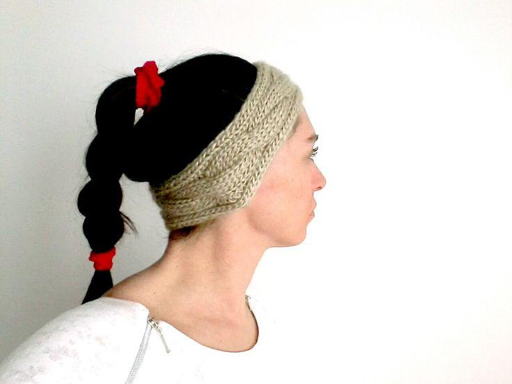 Knit Headband, Knit Beanie, Headband, Ear Warmer, Winter Hairband, Braided Headband by Chedeliko on Etsy