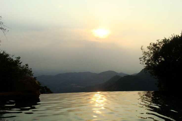 Infinity pool, wildernest resort, Chorla Ghats