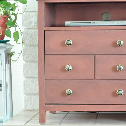 DIY Faux Apothecary Media Cabinet