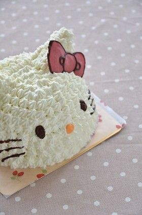 Three-dimensional character Hello Kitty cake in a bowl...need a translator (from Japanese)....but good ideas and lots of photos!