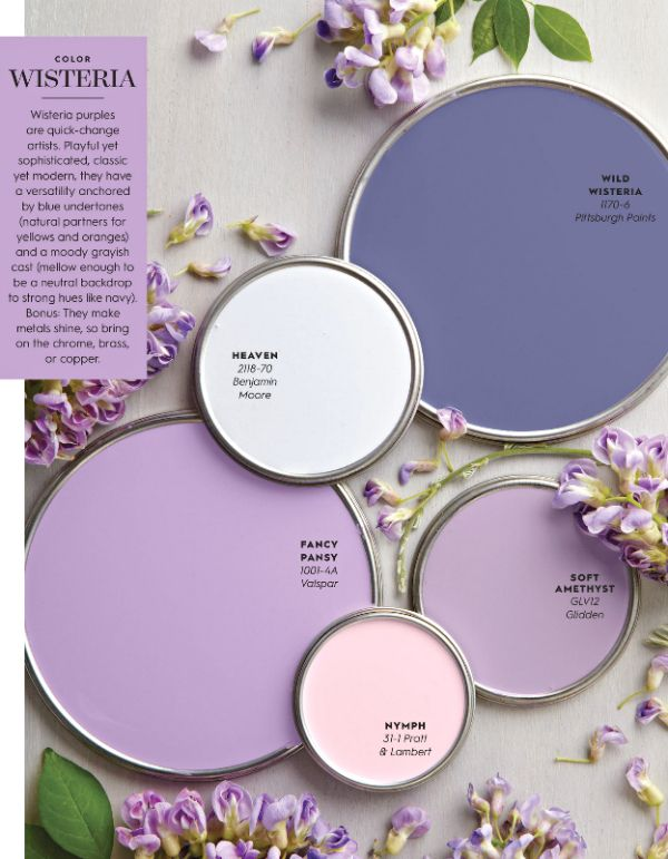 Top 25 best purple paint colors ideas on pinterest - Lavender paint color schemes ...