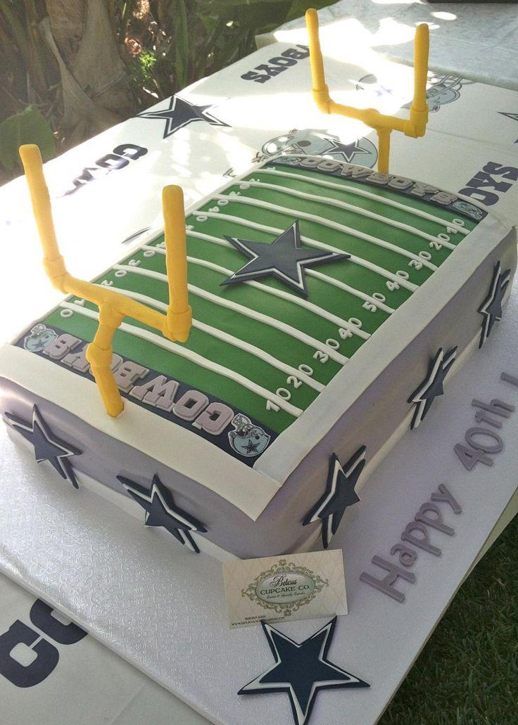 Fondant Football Field Includes 2 Field Goals