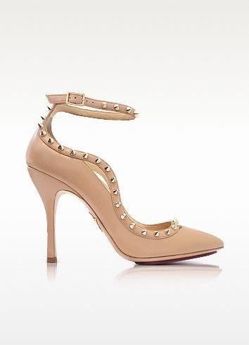 CHARLOTTE OLYMPIA . #charlotteolympia #shoes #pimlico - телесные кожаные туфли-лодочки с ремешко