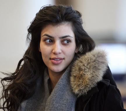 Kim Kardashian no makeup... This makes me feel a little better haha