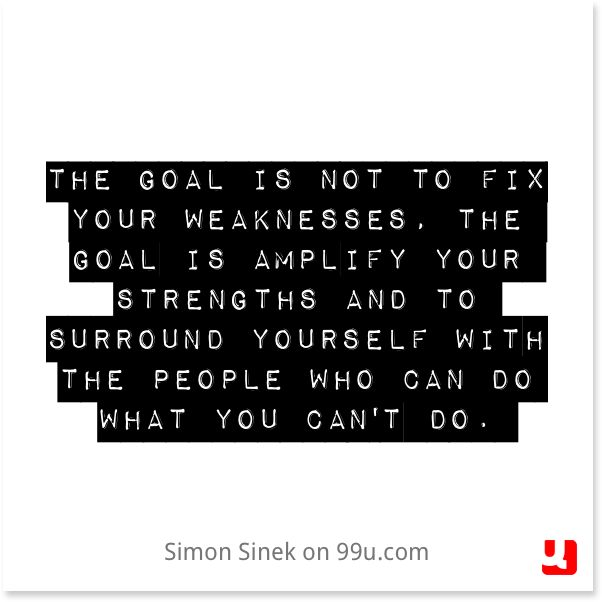 Simon Sinek - Strengths the BEST and MOST Successful Boss I ever had shared these same thoughts!! Thank U Mark for your inspiring Leadership!!