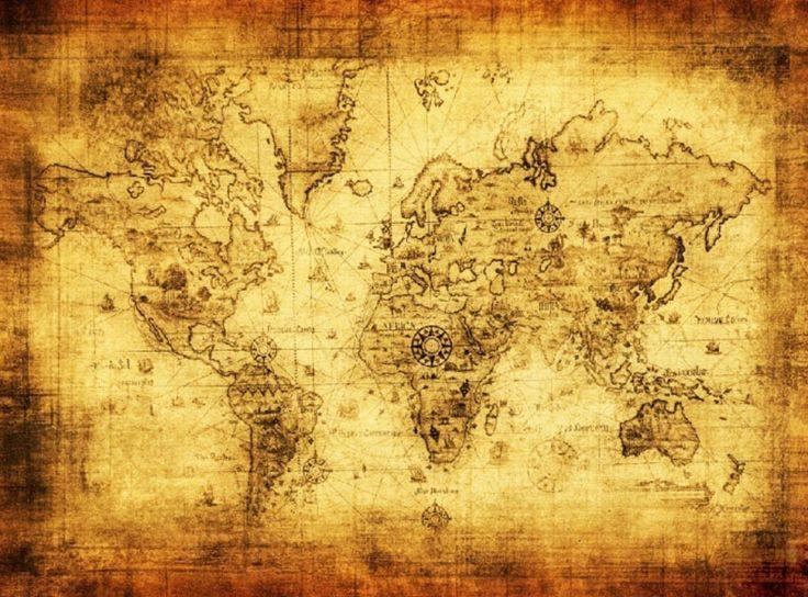 Европейский винтажный стиль ретро ткань плакат глобус старого света навигационный Map подарки купить на AliExpress