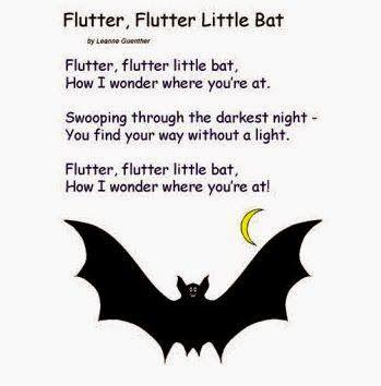 halloween poem flutter flutter little bat - Halloween Song For Preschool