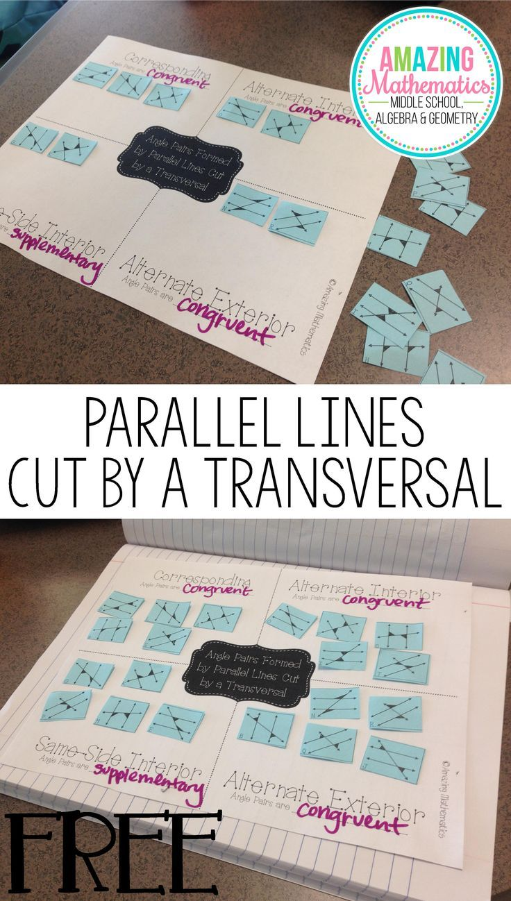41 best Parallel Lines & Transversals images on Pinterest | Middle ...