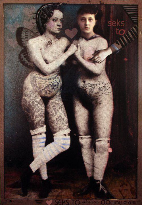 TWO VINTAGE GIRLS Polish Art Poster by Kaja Renkas