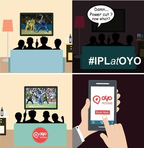 Ye hai #India Ka Tyohaar! So let's make up for a great match at a great #place. Book #IPLatOYO and have a great place to watch the #matches in a uninterrupted environment. Book Now at OYO Rooms All our rooms are equipped with Digital TV, free Wi-Fi and 24x7 room service. Avail a 10% discount using coupon code OYOCC10!