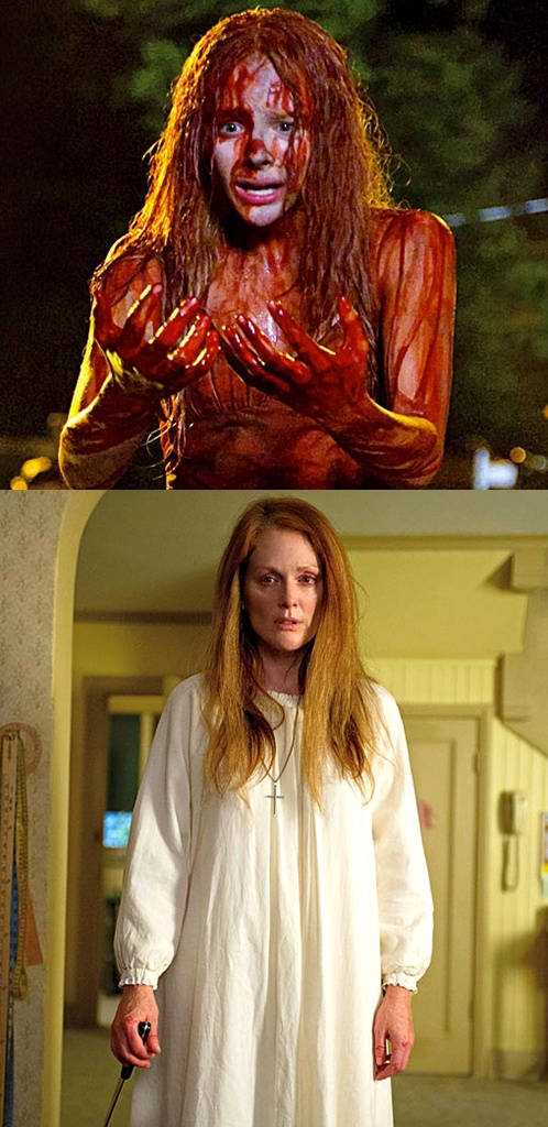 First look at Chloe Moretz & Julianne Moore in the remake of Carrie (2013), via http://www.ew.com