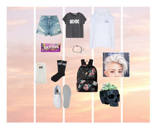 """""""Skittles man"""" by urielectric ❤ liked on Polyvore featuring Band of Outsiders, STELLA McCARTNEY, 3x1, H&M, Vans and Disney"""