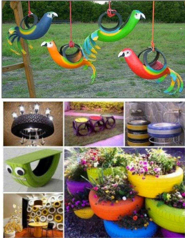 Forget paying the garage to recycle your tires!  Try these Cool Tire Ideas in Your Backyard!!!  #recycle #retired #tires   Pin it to Save it!!!