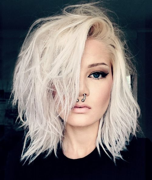 white blonde hair styles 25 best ideas about edgy medium haircuts on 7087 | 1b2ccc7f555adad091d266a07f037b42