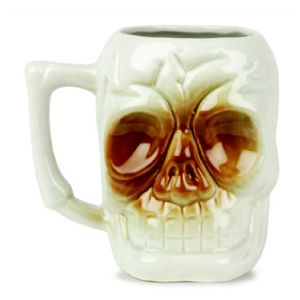 Ceramic Skull Tiki Mug. This novelty drinks container will gain you instant notoriety among your customers & guests. Great for cocktails.