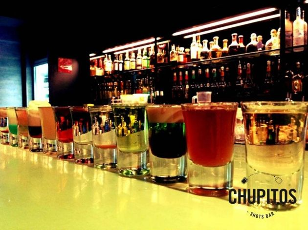 Chupitos Shots Bar's Pandan Cake, Milo Godzilla, Cotton Candy, Cum Shot, Virgin's Blush and more! Don't forget to download our app! www.happygw.asia