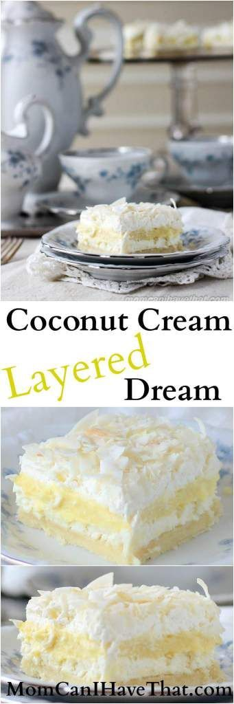 Coconut Cream Layered Dream is made from wholesome ingredients and is 6 net carbs | low carb, gluten-free, keto, thm-s | http://momcanihavethat.com