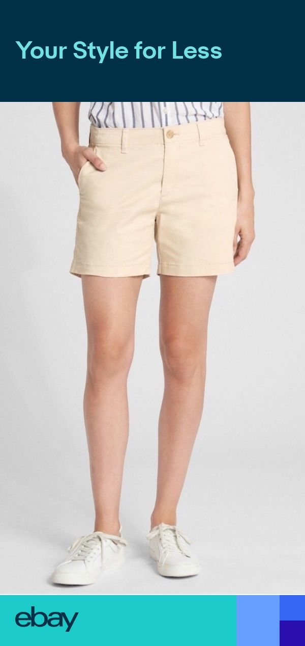 "Gap 5/"" City Shorts in Twill Women`s  anchorage cream Shorts Msrp 34.99 NWT"
