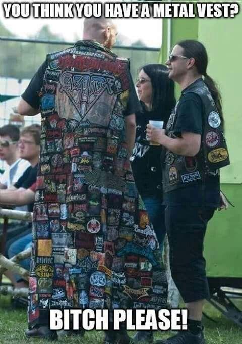 Heavy metal jacket / battlevest / Epic metal coat / Metal memes
