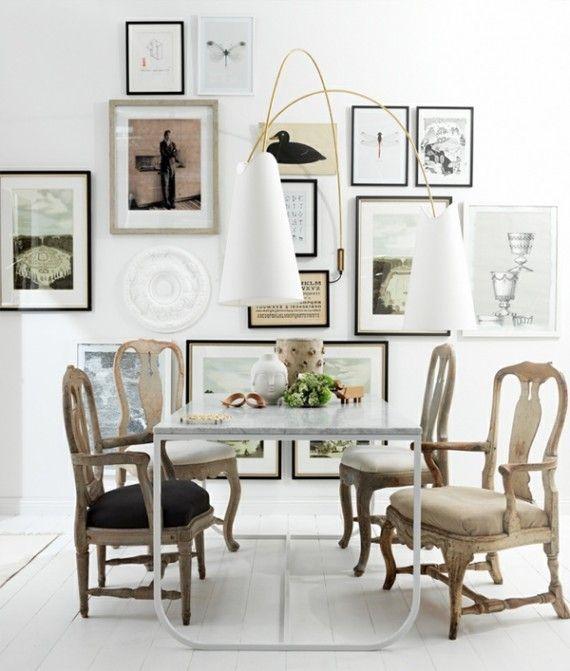 chairs + wall art
