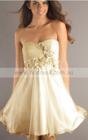 Princess Sweetheart Short Chiffon Empire Formal Dresses gt1502--Hodress