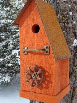 Birdhouse a fogója sügér és vízcsap csavart.  christian