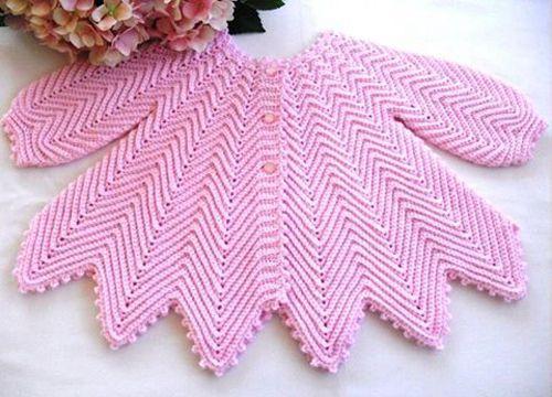 Baby Zig-zag Crochet Jacket - Free Pattern