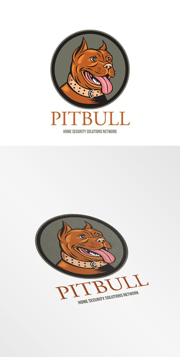 Pitbull Home Security Solutions Logo by patrimonio on Creative Market