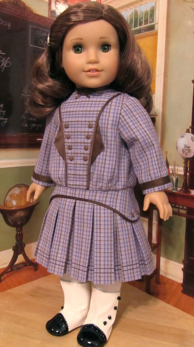 "$104.49 1914 Pleated Frock - Made to Fit 18"" American Girl Doll Rebecca, An Original KeepersDollyDuds design"