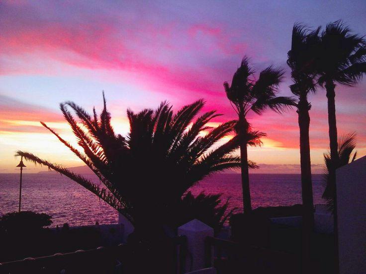 Teneryfa zachód słońca