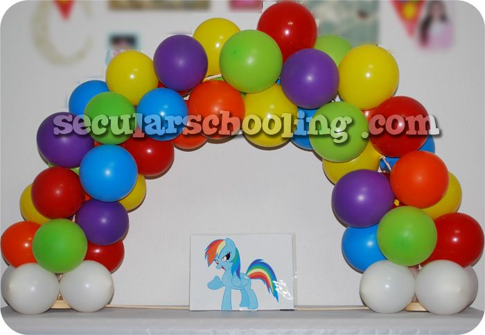 13 best images about balloons on pinterest balloon for How to make a rainbow arch