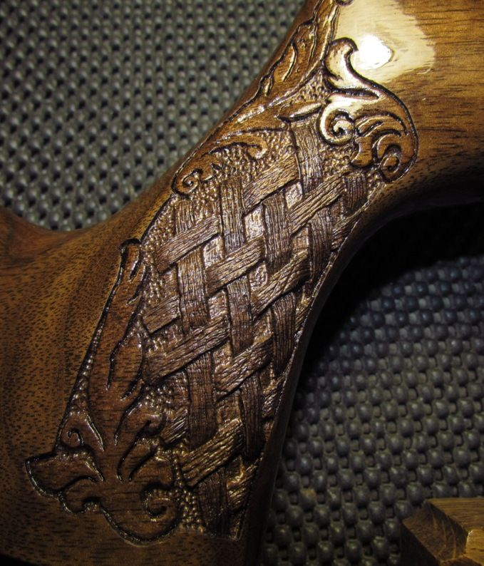 basket weave gun stocks   FT forum: Airgun Stock Carving - Theoben MFR