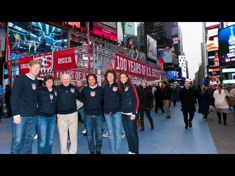 U S Soccer Takes Over Times Square For Centennial Celebration