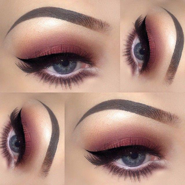 the most amazing #cranberry red smokey #eye with black winged liner   #makeup @amberhirschx3_mua