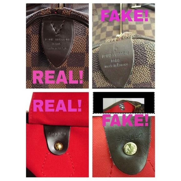 Check this out!!! Here is the picture I made to show you how to spot fake or real Louis Vuitton bags. Louis Vuitton Bags