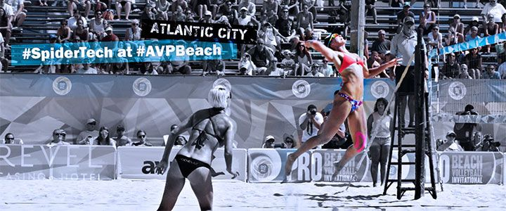SpiderTech, the world's #1 choice for kinesiology therapeutic tape kept top-ranked beach volleyball players in optimum performance at the AVP Beach Volleyball tournament in Atlantic City. www.passion-for-taping.com